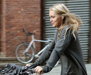 blonde, girl, and bike image