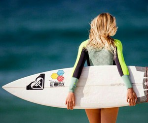 blond, surf, and roxy image