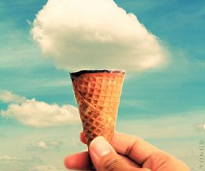 clouds and ice cream image