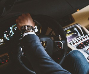 car, luxury, and man image