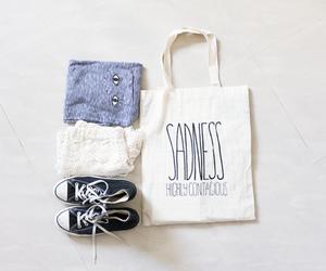 bag, converse, and sadness image