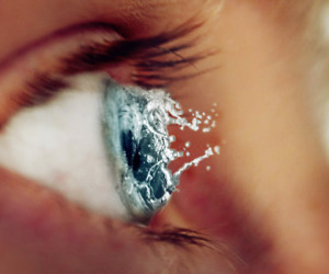 eye, water, and blue image
