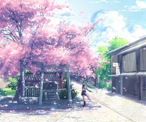 sakura, anime, and hatsune miku image
