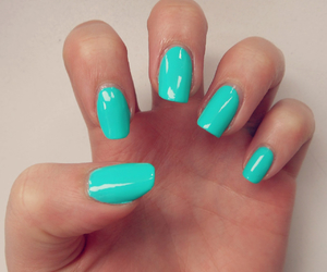 nails and turquoise image