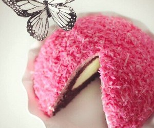 butterfly, cake, and food image