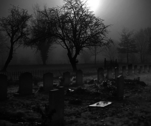art, dark, and graves image