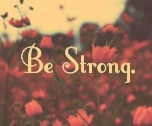 flowers, strong, and quote image