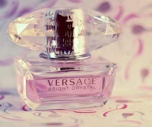 pink, Versace, and bright crystal image