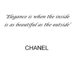 chanel, quote, and elegance image