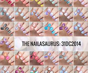 colors, girl, and nail art image