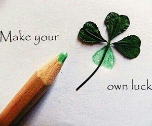 luck, green, and quotes image