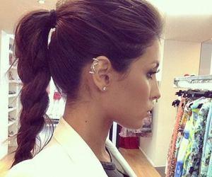 hair, makeup, and ponytail image