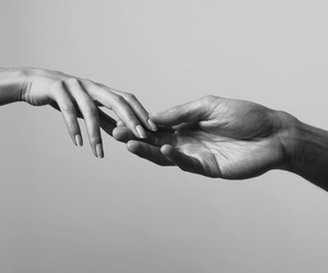 black, hands, and white image