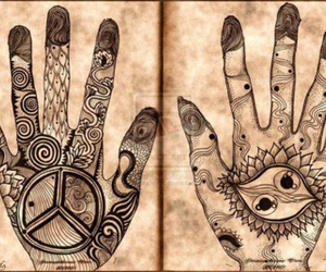 hands, art, and henna image
