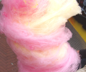 cotton candy, pink, and food image