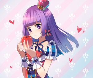 anime, apple, and colors image