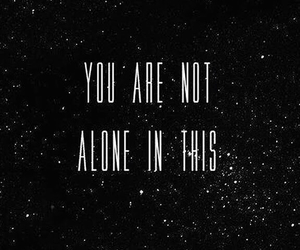 alone, quotes, and stars image