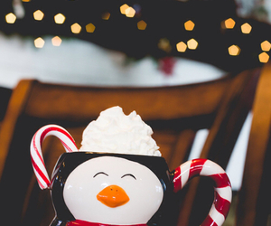 christmas, winter, and penguin image