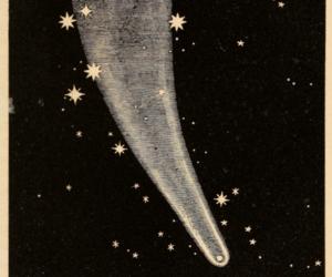 art, comet, and stars image