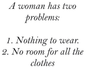 clothes, problem, and quote image