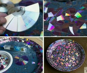diy, cd, and plate image