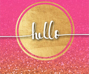 wallpaper, pink, and hello image
