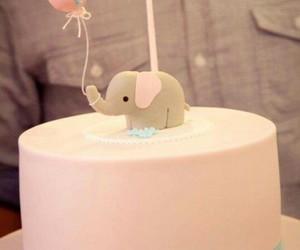 baby girl, elephant, and birthday image