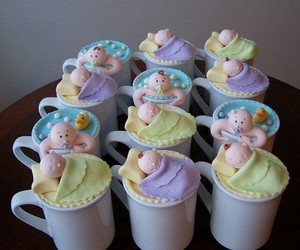 baby, baby shower, and cup image