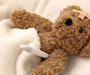 sick, cute, and teddy image
