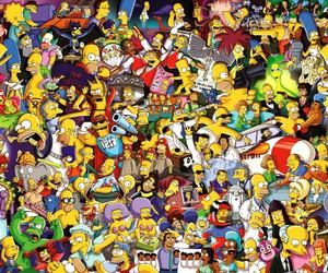 simpsons, wallpaper, and yellow image