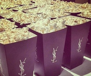 popcorn, YSL, and food image