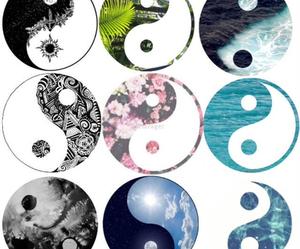 yang, ying yang, and peace image