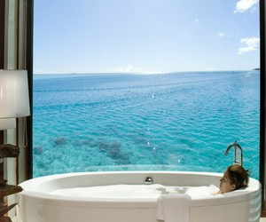 bath, ocean, and water image