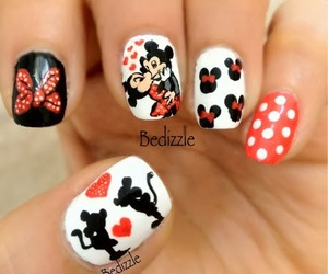 nails, mickey mouse, and disney image