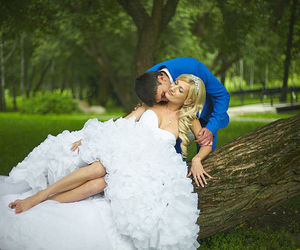 couple, dress, and nature image