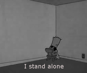 alone, quote, and bart image