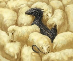 dragon and sheep image