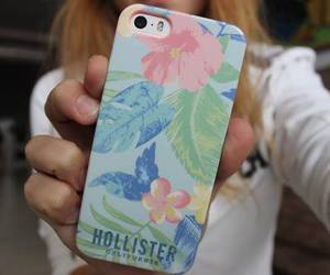 hollister, flowers, and iphone image