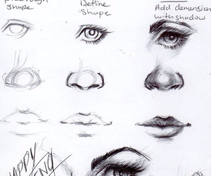 drawing, lips, and draw image