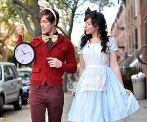 Halloween, couple, and alice image