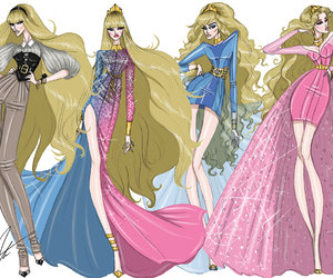 disney, aurora, and fashion image