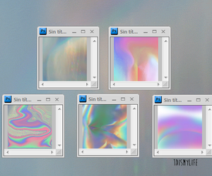 holographic, cyber, and pale image