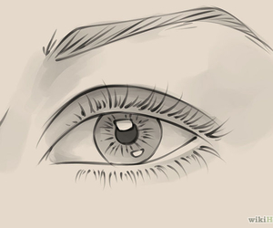 eye, draw, and drawing image