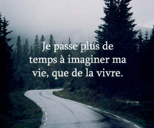 french, quote, and life image