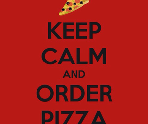 pizza, food, and keep calm image