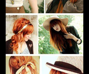 different, hairstyles, and orange image