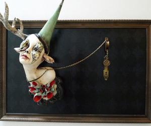 art, creepy, and sculptres image