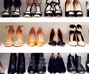 boots, closet, and shoes image