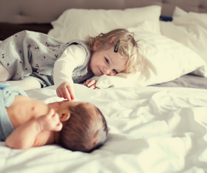 baby, beautiful, and brother image