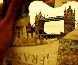 london, heart, and france image